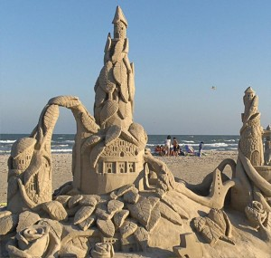 Port Aransas Texas SandFest sand sculpture April 2015