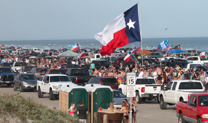 Spring Break Crowds in Port Aransas