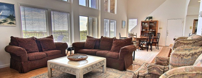 1722 On The Beach Living Room Port Aransas TX