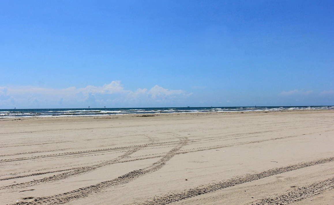 beach and Gulf of Mexico in Port Aransas TX