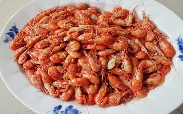 plate full of shrimp