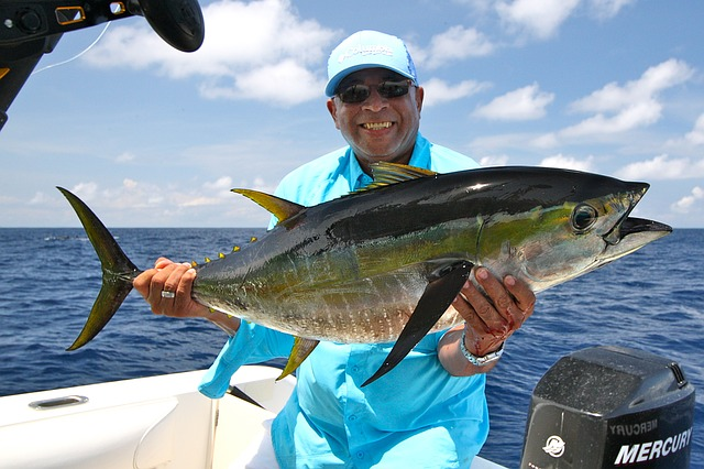 angler holding up a large fish