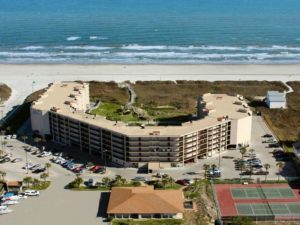 overhead view of Sandcastle condos in Port Aransas